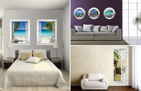 Wandmotive, Aufkleber für Innenwände
