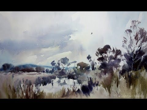 Marsh Harrier Over The Starling Roost Full Watercolour Demo By