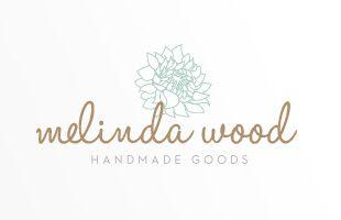 Elegant Logo Design for Handcrafted Goods Company in Orange County, California. http://jpwdesignstudio.com/melinda-wood/