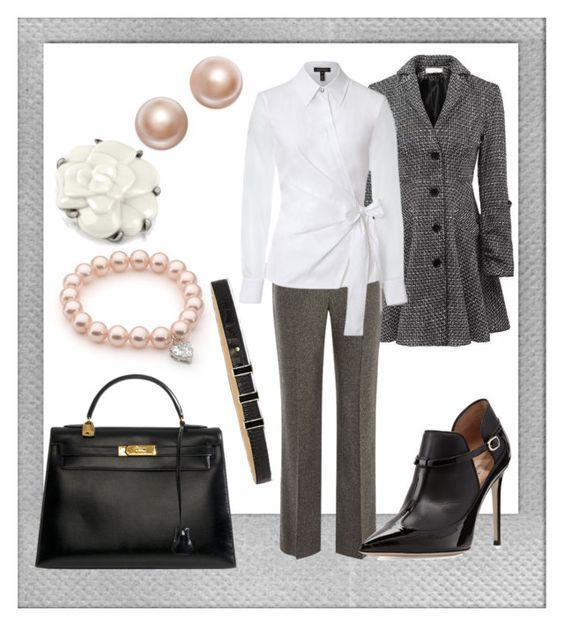 """CLÁSICO"" by evabarrios ❤ liked on Polyvore featuring Polaroid, Relaxfeel, CC, Valentino, ESCADA, Charter Club, Vince Camuto, Hermès and AZ Collection"
