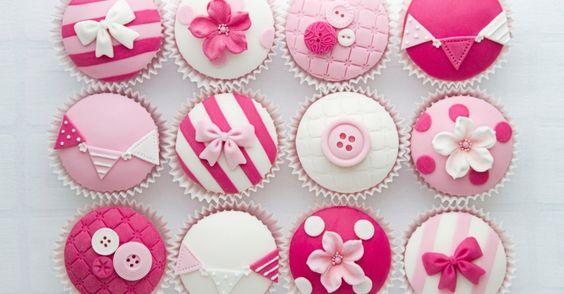 Botões, lacinhos e outras fofuras - cupcakes