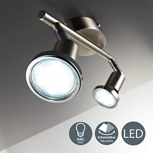 spots orientable nickel mat GU10 3W lampe de salon Plafonnier Plafonnier LED