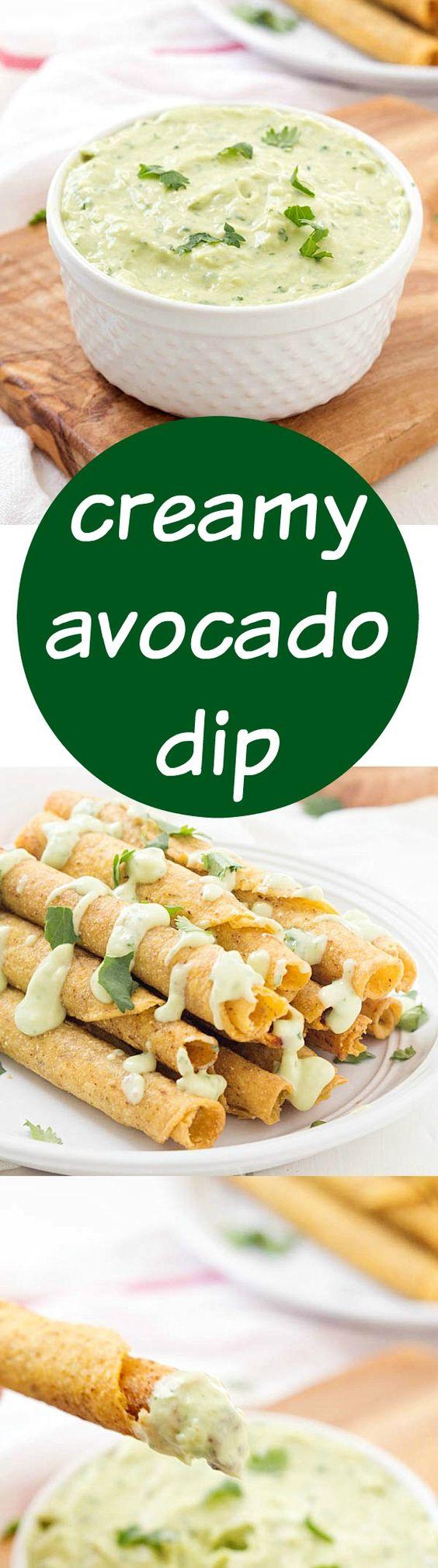 Creamy Avocado Dip | Recipe | Guacamole, Appetizers and Greek sauce