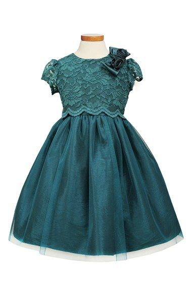 Sorbet Lace Amp Taffeta Dress Toddler Girls Little Girls