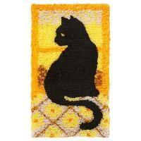 Craftways® Window Cat Silhouette Latch Hook Kit