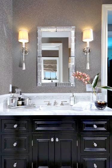 love dark black cabinets in bathrooms and all other rooms in my house