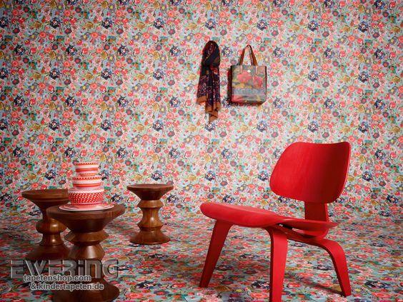 Oilily Home 02 - Diese bunten Blüten lassen den Raum mädchenhaft aussehen.