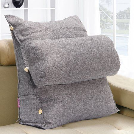 Adjustable Back W Edge Cushion Pillow Sofa Bed Office Chair Rest Neck Support Walmart Com In 2020 Bed Chair Pillow Sofa Pillows Bed Pillows