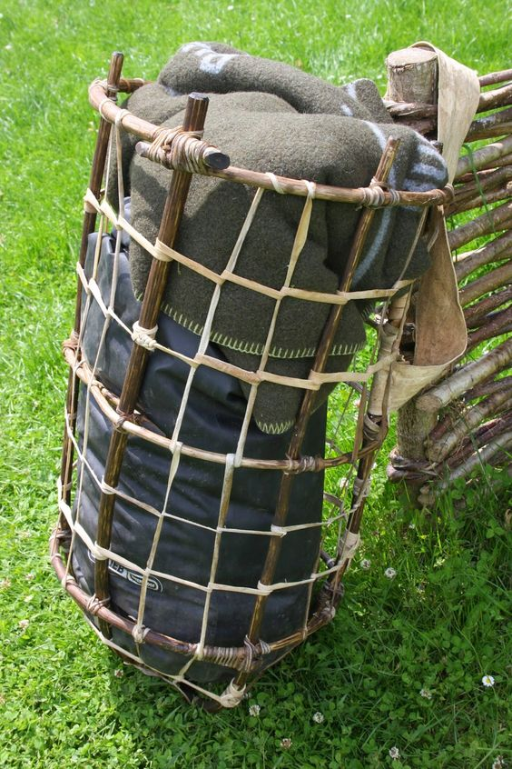 Wilderness Survival Skills and Bushcraft Antics: Primitive Packs – load carrying equipment made from sticks, skins and string
