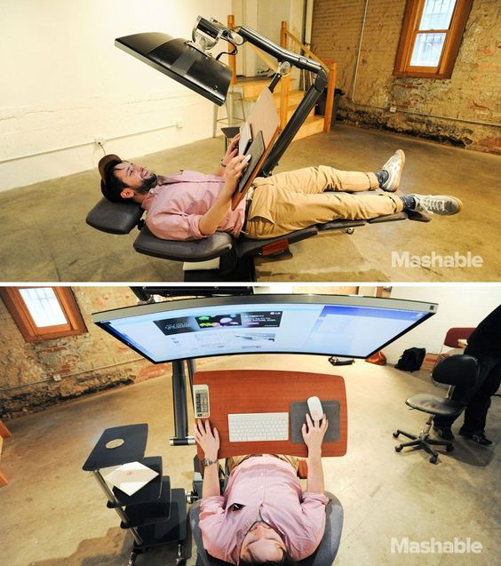 This 5 900 Workstation Lets You Work Lying Down To Work