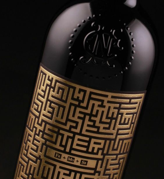 Cool Packaging: Mysterium Wine Label - PaperSpecs