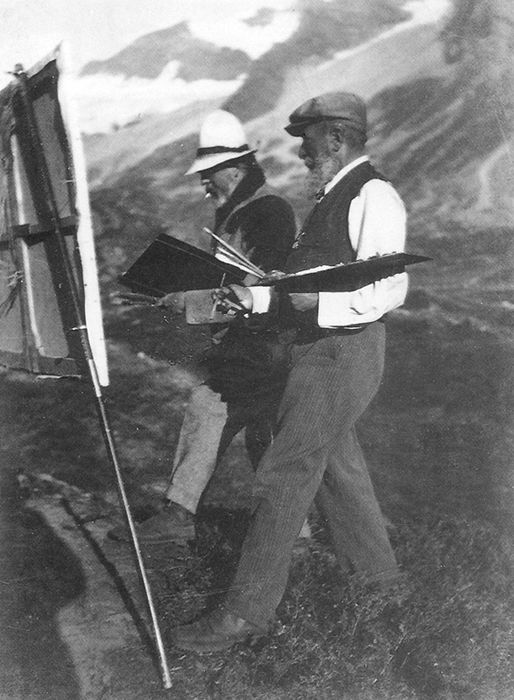 Italian artist Ambrogio Raffele (1845-1928) and John Singer ...
