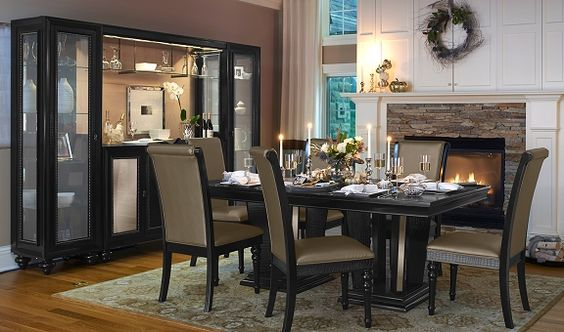 hardware chic and dining rooms on pinterest. Black Bedroom Furniture Sets. Home Design Ideas