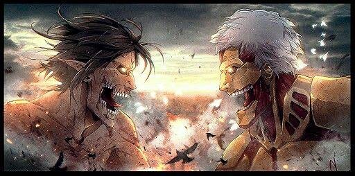 Attack On Titan: Eren Titan vs Armored Titan.