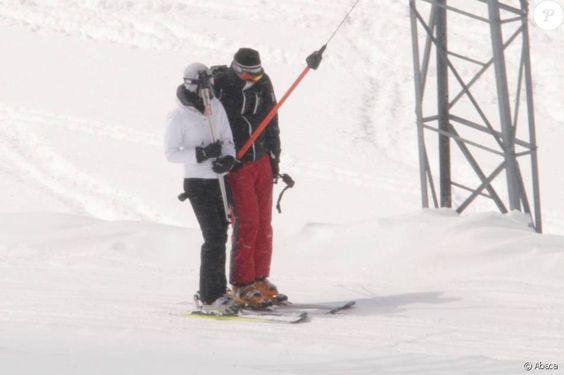 Image d'un séjour de Kate Middleton et du prince William aux sports d'hiver en mars 2008 à Klosters, en Suisse.