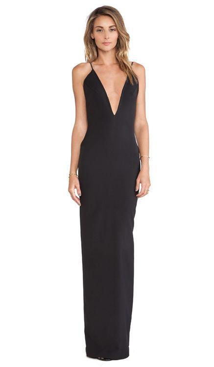 SOLACE London Murphy Maxi Dress em Preto | REVOLVE: