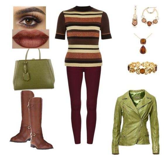 """""""cinnamon"""" by nvsclothing on Polyvore featuring Napier, River Island, Naturalizer, Fendi and Liz Claiborne"""