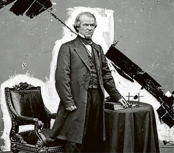 Andrew Johnson · 1868 Una batalla política por la reunificación del país