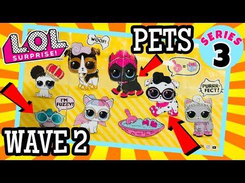 Lol Surprise Pets Wave 2 All Pets Revealed Dpci Upc Codes L O L Series 3 Confetti Pop Youtube Lol Pets Birthday Surprise Party