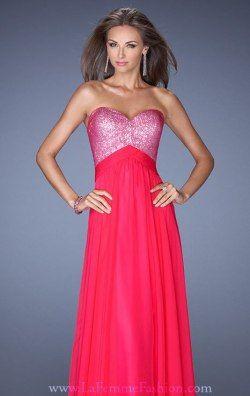 Embellished Sweetheart Gown by La Femme 19641