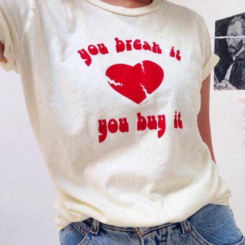 girlfig:   I heart my new $3 thrift store shirt  |