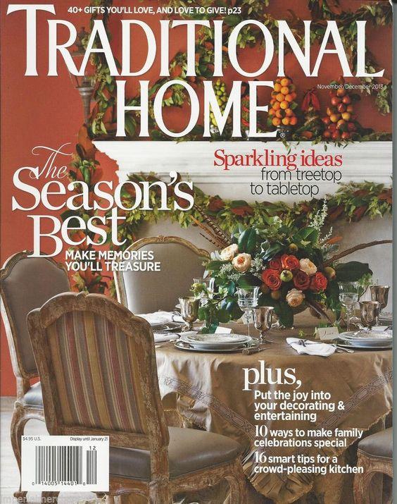 Traditional Home magazine Christmas season Festive ideas