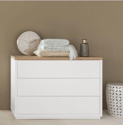 Commode Blanche 3 Tiroirs Austral Maisons Du Monde Commode Blanche Commode Design Meuble Blanc