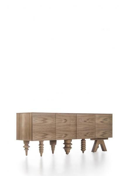 THE WOOD COLLECTOR | Multileg walnut low table by BdBarcelona