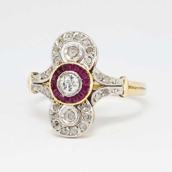 Platinum Estate Diamond Rings