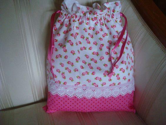 Wäschesäckchen, Wäschebeutel, Lingerie Bag von patchwerk auf DaWanda.com