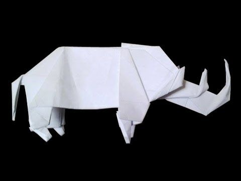 how to make paper rhino step by step