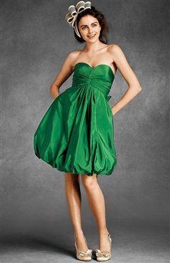 Twisted Taffeta Bubble Hem Dress  $84