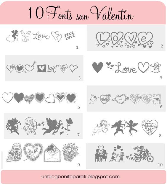 Dise o de blogs tipos de letras para san valentin for Disenos de literas