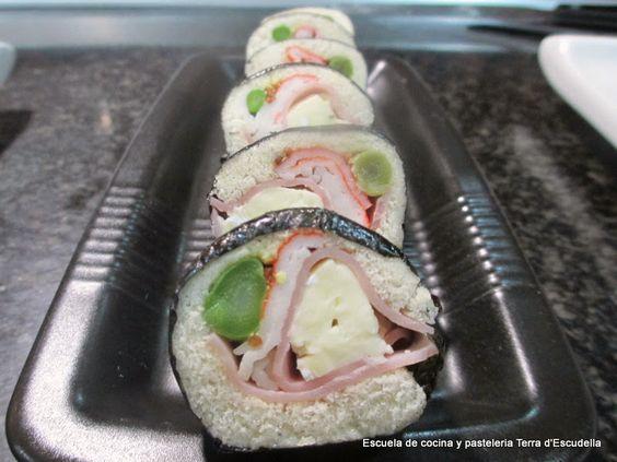 Canapes de sushi