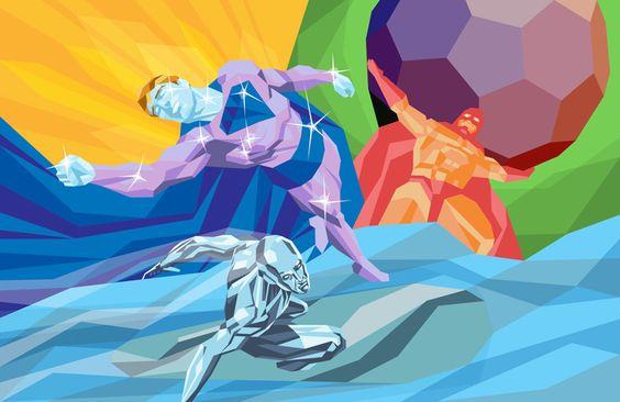 ilustración poligonal superman por Liam Brazier