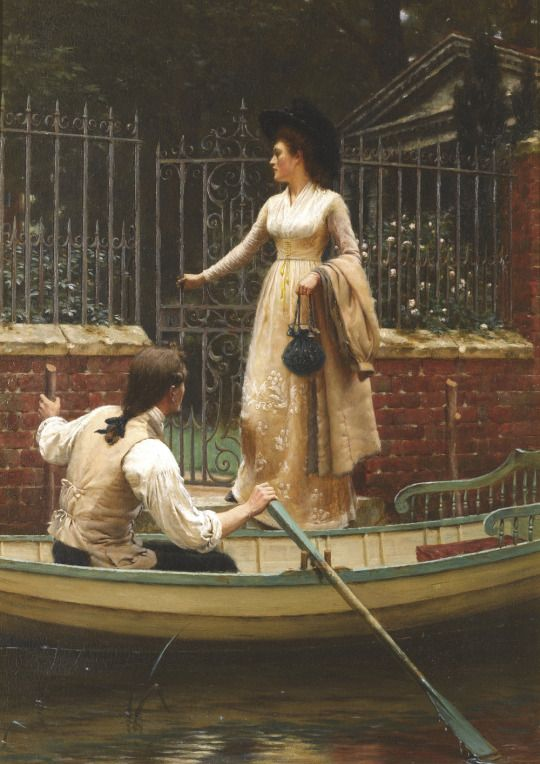 My Brother, My Captain, My King - Edmund Blair Leighton,The Elopement (1893)
