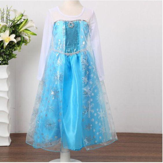 robe princesse dguisement elsa la reine des neiges cadeau de fille 2 10