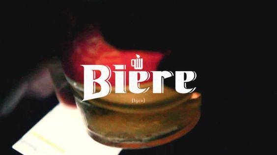 Bière - http://vimeo.com/32084517