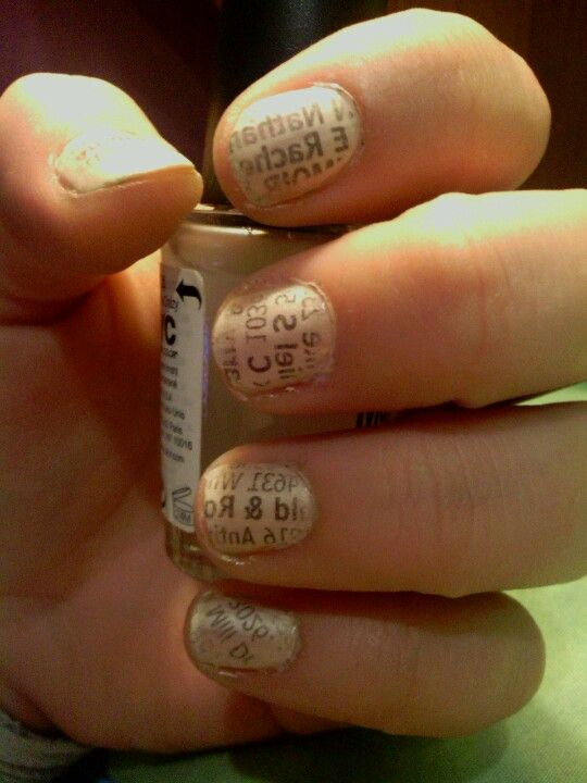 ignore the chubby hands and short nails... phonebook nails! (: