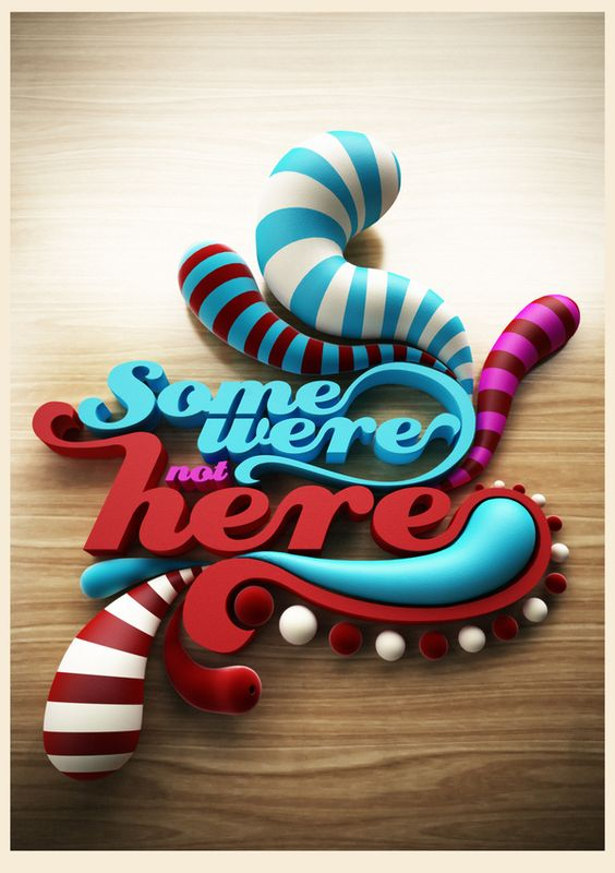 3D Typography by Pablo Lopez, via Behance