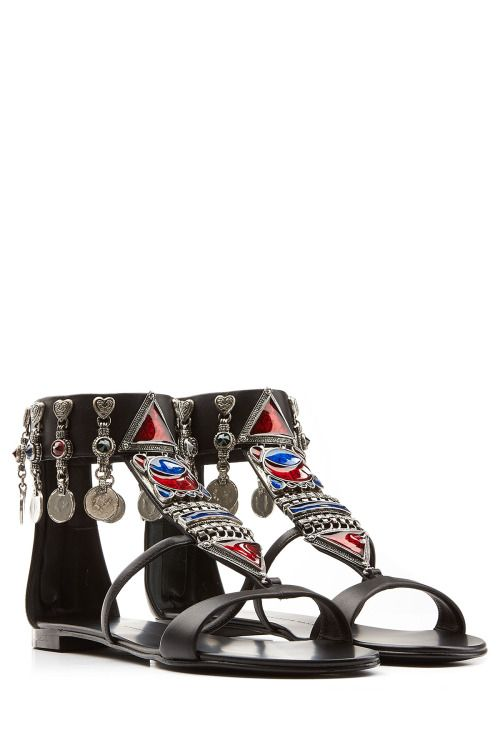 Giuseppe Zanotti  Sandals colourful, bohemian, hippie, ethnic, tribal, vintage, floral, eclectic, geometric, artsy, rustic, embroidered, lacy, silky,