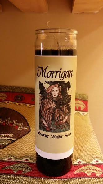 Morrigan Fixed Voodoo Hoodoo Candle Conjure by HonoringMotherEarth