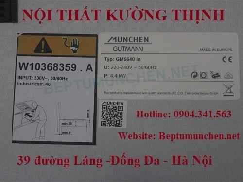 Bếp từ Munchen GM 6640IN có xuất xứ ở đâu?
