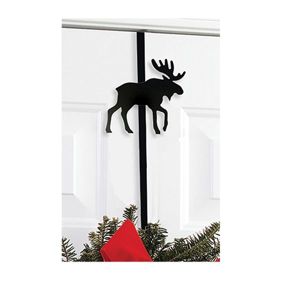 Moose Wrought Iron Wreath Hanger