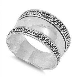 Braided Indian Bali Ring Sterling Silver
