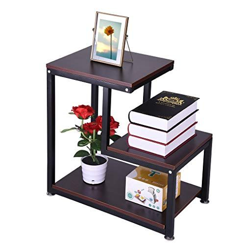 Small Nightstand Bedside Table End Table With Fabric Drawer For Bedroom Rustic End Table 3 T Couches Living Room Rustic End Tables Black Furniture Living Room
