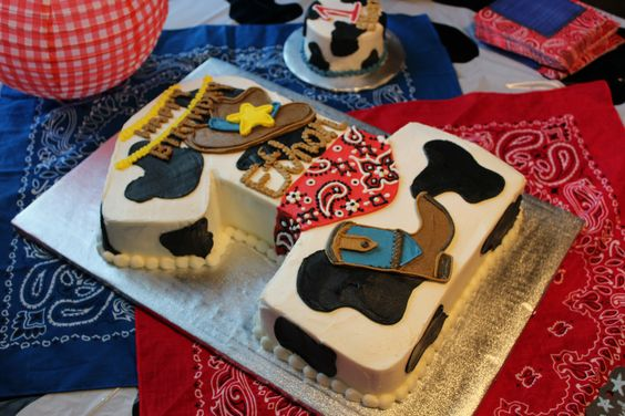 The First Birthday Cowboy Cake and Smash Cake, by Sweet Caroline Cakery