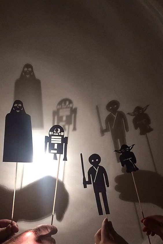 Star Wars Shadow Puppets Activity Idea for Kids. Celebrating the release of Star Wars: The Force Awakens: