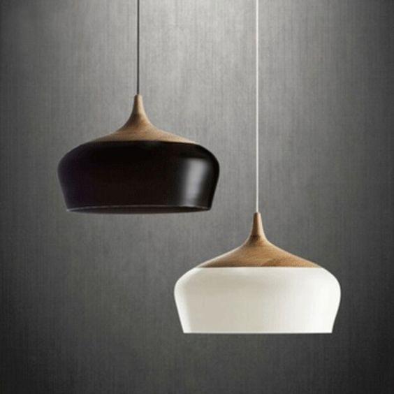 Aliexpress.com: Comprar Italia diseño elementos innovadores lámparas e27 base D30cm / D35cm nórdico minimalista de madera de aluminio luces colgantes para la iluminación casera de interior de iluminado fuentes de agua al aire libre fiable proveedores en zhongshan Yifei lighting factory
