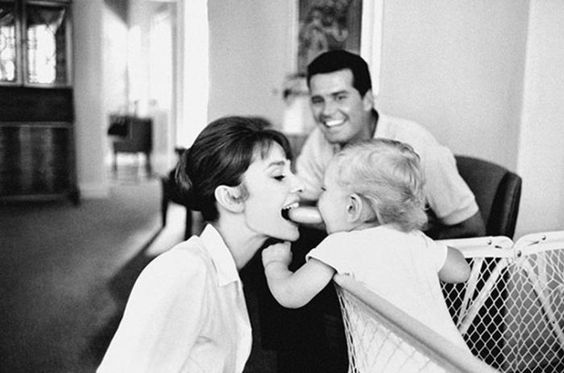 Audrey Hepburn candid shot with her first son Sean TheMindCircle